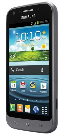 Sprint Samsung Galaxy Victory 4G LTE Affordable Smartphone angle