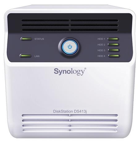 Synology DiskStation DS413j 4-bay NAS Server front