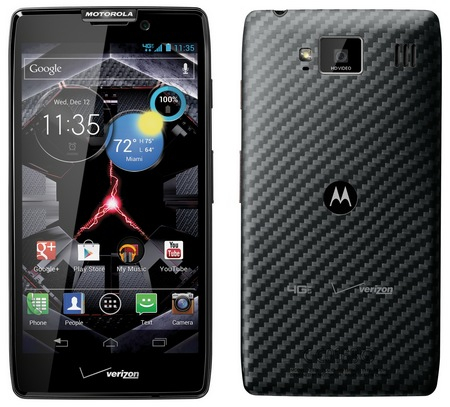 Verizon Motorola DROID RAZR HD LTE Smartphone black back