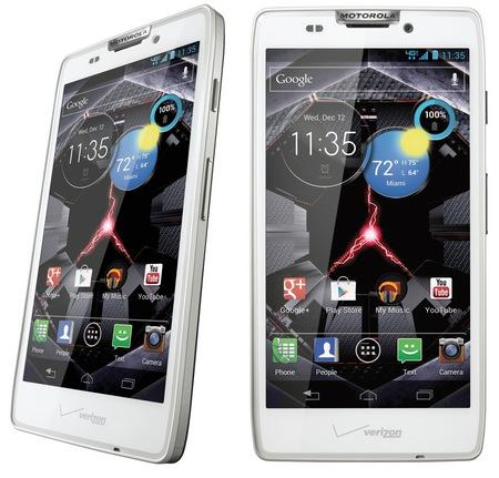 Verizon Motorola DROID RAZR HD LTE Smartphone white