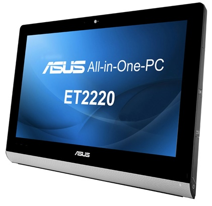 Asus ET2220 series All-in-one PC with 10-point Multitouch Display angle