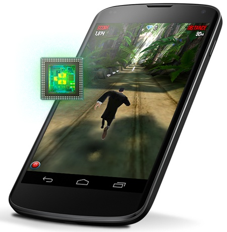 Google LG Nexus 4 SnapDragon S4 Pro, 4.7-inch 320ppi IPS+ and Android 4.2 cpu
