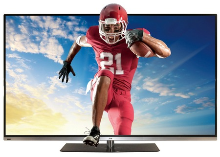 JVC BlackSapphire JLE55SP4000 HDTV with XinemaView 3D front