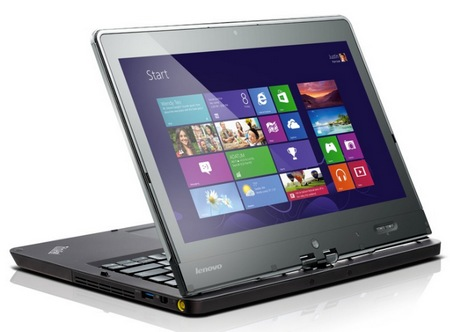 Lenovo ThinkPad Twist Windows 8 Convertible Ultrabook for Business stand