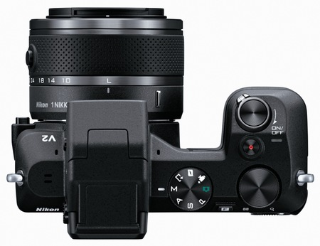 Nikon 1 V2 Interchangeable Lens Mirrorless Camera top