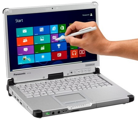 Panasonic Toughbook CF-C2 Windows 8 Semi-rugged Convertible Tablet PC stylus