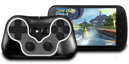 SteelSeries Free Mobile Wireless Controller in use