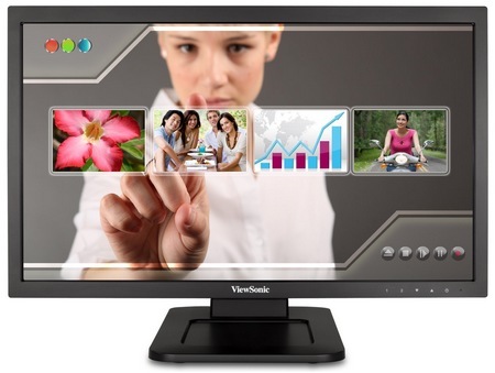 ViewSonic TD2220 Dual-point Touch Display front