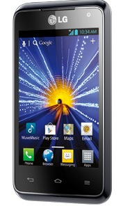 Cricket LG Optimus Regard 4G LTE Smartphone angle