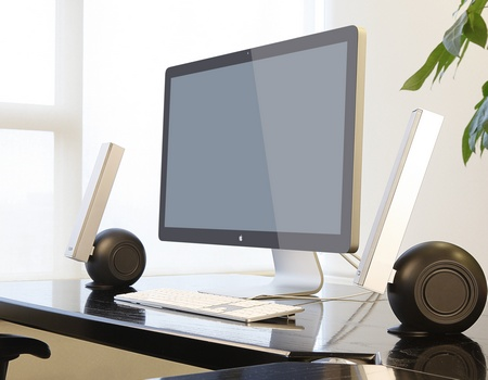 Edifier E10 Exclaim 2.0 Speaker System with imac 1