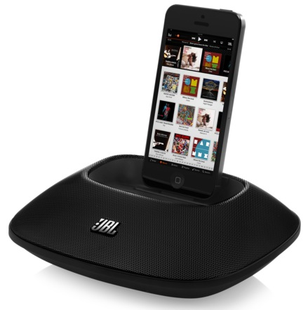 JBL OnBeat Micro iphone speaker dock with lightning connector iphone docked