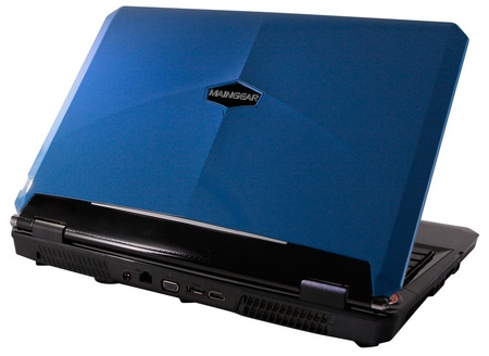 Maingear NOMAD 15 Gaming Notebook powered by Core i7 and GeForce GTX GPU blue