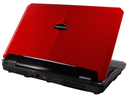 Maingear NOMAD 15 Gaming Notebook powered by Core i7 and GeForce GTX GPU red