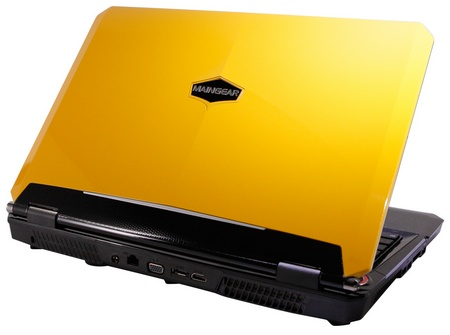 Maingear NOMAD 15 Gaming Notebook powered by Core i7 and GeForce GTX GPU yellow