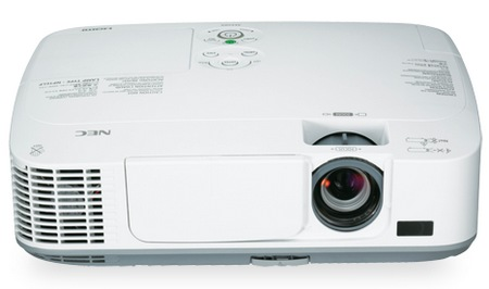 NEC M271X, M311X and M311W Portable Projectors front