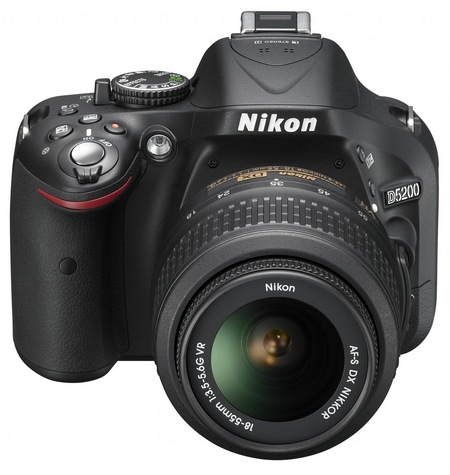 Nikon D5200 Digital SLR Camera with 39-point AF and 24.1 Megapixel Sensor angle