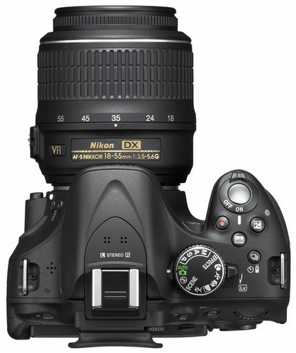 Nikon D5200 Digital SLR Camera with 39-point AF and 24.1 Megapixel Sensor top