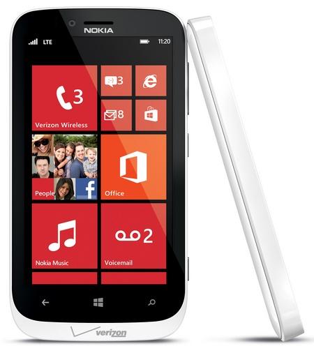 Verizon Nokia Lumia 822 Windows Phone white