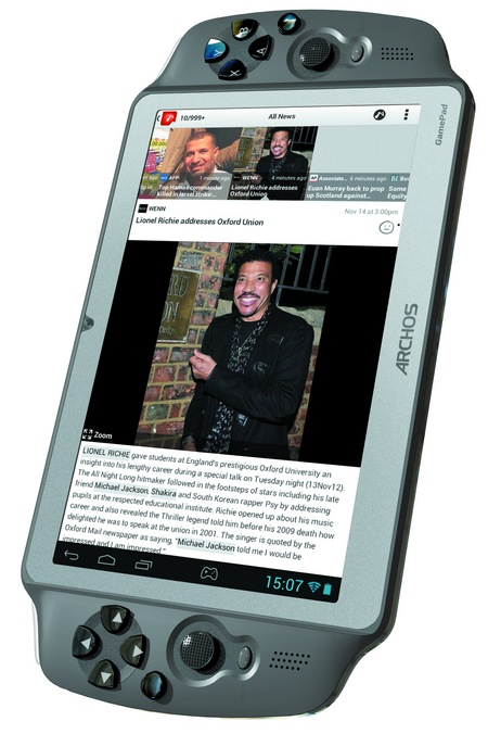Archos GamePad 7-inch Android Gaming Tablet portrait