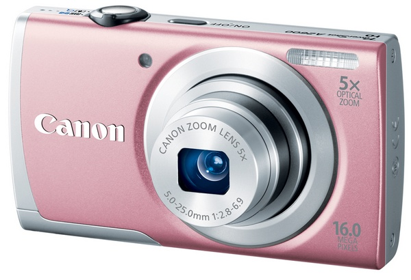 Canon PowerShot A2600 digital camera pink
