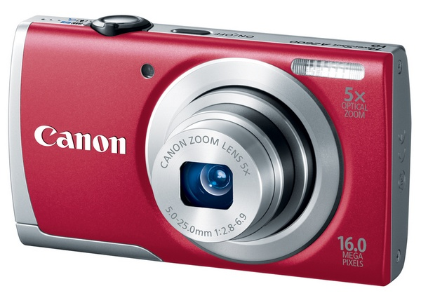Canon PowerShot A2600 digital camera red