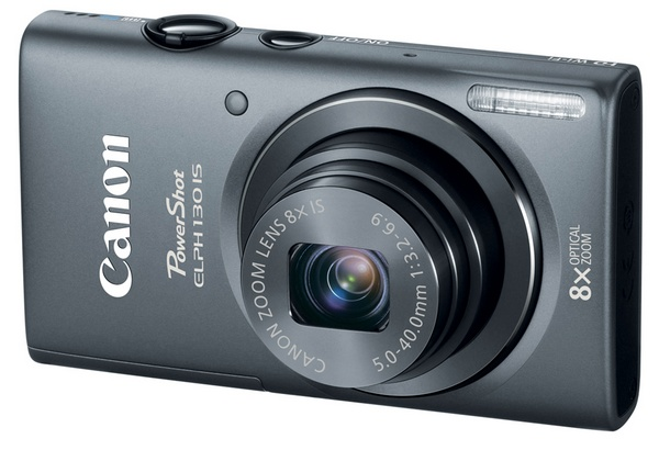 Canon PowerShot ELPH 130 IS Point-and Shoot packs 8x Zoom, WiFi and 3-inch Display gray