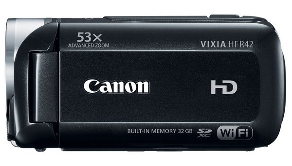 Canon VIXIA HF R42 WiFi Full HD Camcorder side