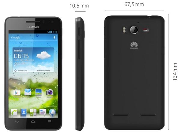 Huawei Ascend G615 Mid-range Quad-core Smartphone black