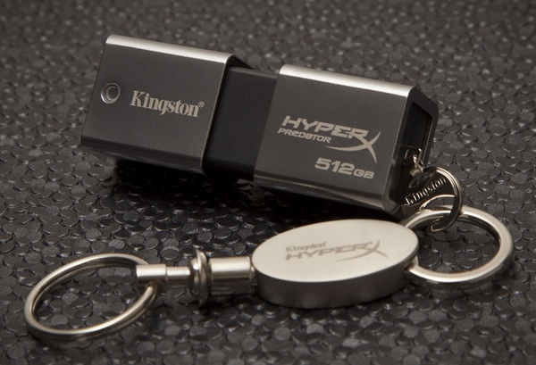 Kingston DataTraveler HyperX Predator 3.0 1TB USB 3.0 Flash Drive with keychain