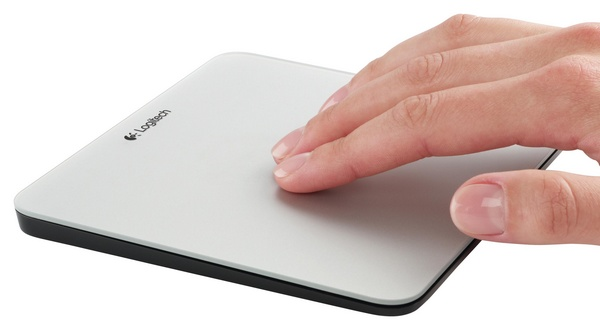 Logitech Rechargeable Trackpad for Mac in use