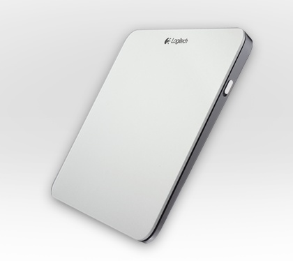 Logitech Rechargeable Trackpad for Mac side