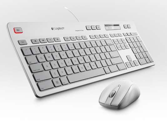 Logitech UC Keyboard K725-C and M525-C wireless mouse