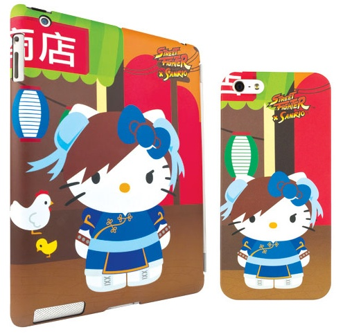 Mad Catz Street Fighter X Sanrio iPhone ipad case Chun-li Hello Kitty