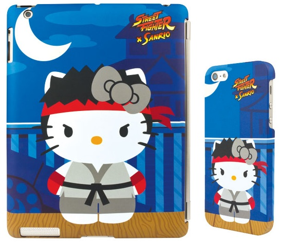 Mad Catz Street Fighter X Sanrio iPhone ipad case Ryu Hello Kitty