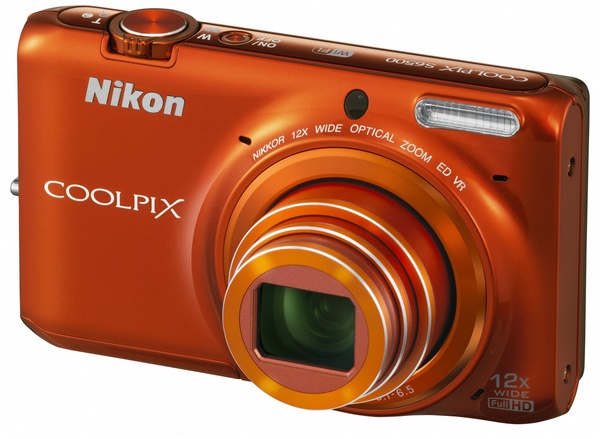 Nikon CoolPix S6500 Compact Camera with 12x Optical Zoom and WiFi orange