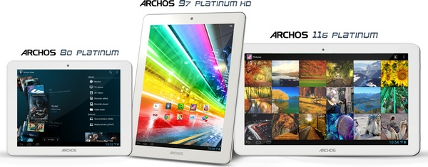 Archos 80 Platinum, 97 Platinum HD, and 116 Platinum Quad-core Tablets