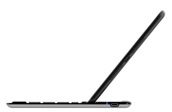 Belkin FastFit Keyboard Case for iPad mini side