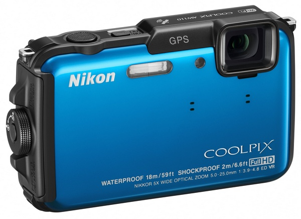 Nikon CoolPix AW110 rugged four-proof camera blue