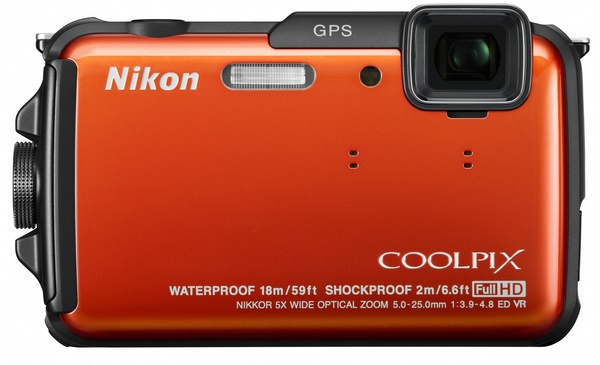 Nikon CoolPix AW110 rugged four-proof camera orange