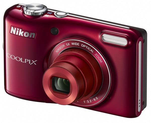 Nikon CoolPix L28 compact digital camera red