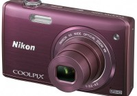 Nikon CoolPix S5200 digital camera plum
