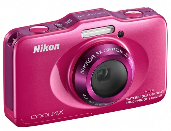 Nikon Coolpix S31 budget-friendly rugged digital camera pink