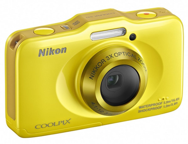 Nikon Coolpix S31 budget-friendly rugged digital camera yellow