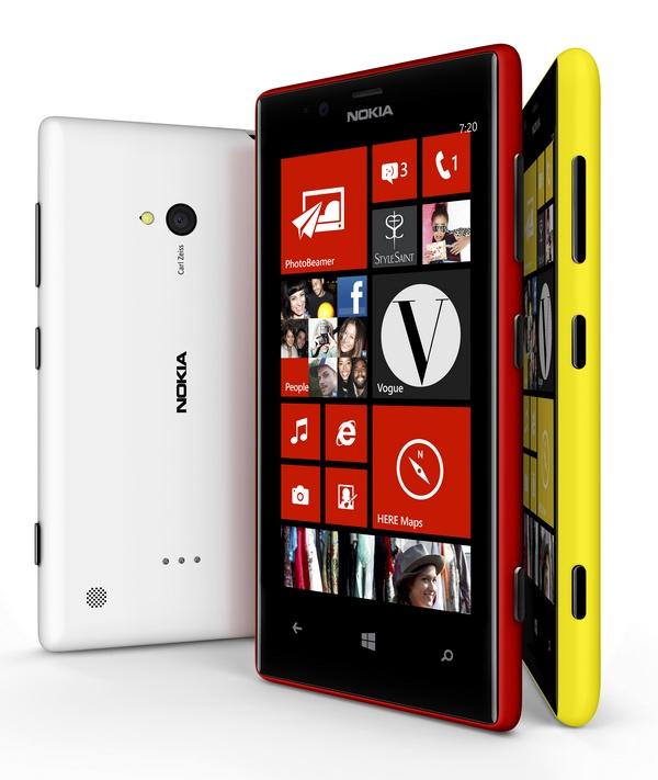 Nokia Lumia 720 Mid-range Smartphone colors 1