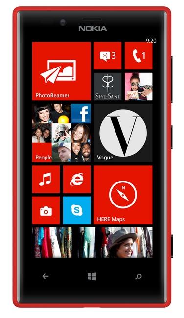Nokia Lumia 720 Mid-range Smartphone red