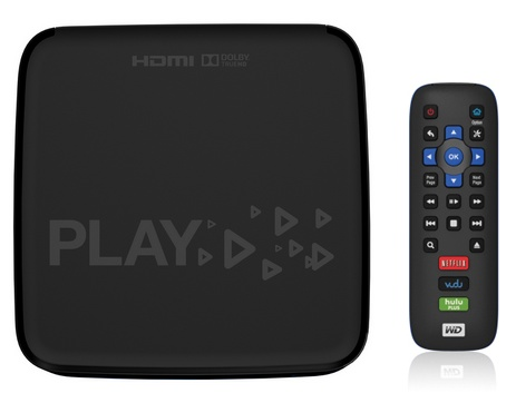 WD TV Play WiFi HD Media Player Streamer remote
