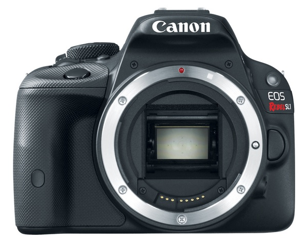 Canon EOS Rebel SL1 is the World's Smallest and Lightest DSLR front no lens