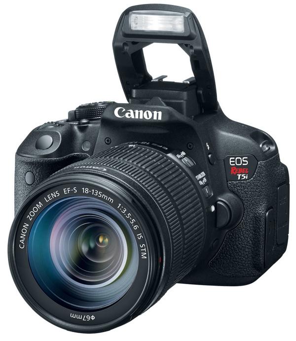 Canon EOS Rebel T5i DSLR Camera flash open
