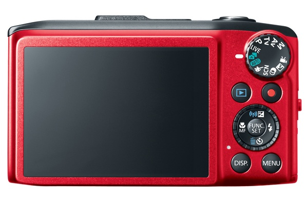 Canon PowerShot SX280 HS with 20x Optical Zoom, WiFi and GPS red back