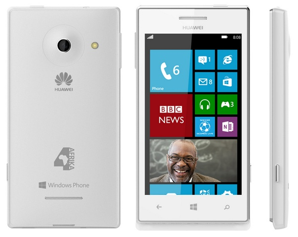 Huawei Windows Phone 4Afrika white